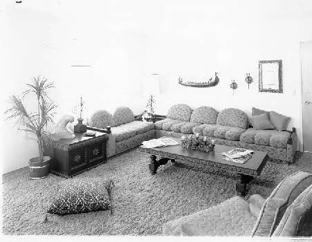 Calisphere: Living room of Westgate Apartments, Santa Rosa ...