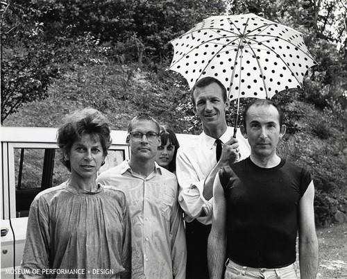 Portrait of Anna Halprin, A.A. Leath, Daria Halprin, John Graham, and Patric Hickey