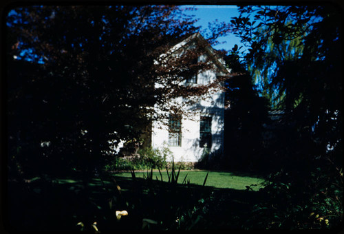 View of Luther Burbank home in the Luther Burbank Home & Gardens, Santa Rosa, California, 1959