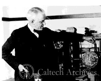 Robert A. Millikan with cosmic-ray equipment