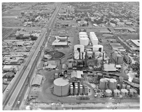 Aerial views : Edgington Oil