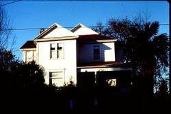 about 1888 Queen Anne house at 182 North High Street, Sebastopol, California, 1976