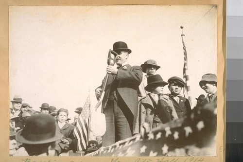 Breaking ground New City Hall 1914. Mayor Rolph Jr