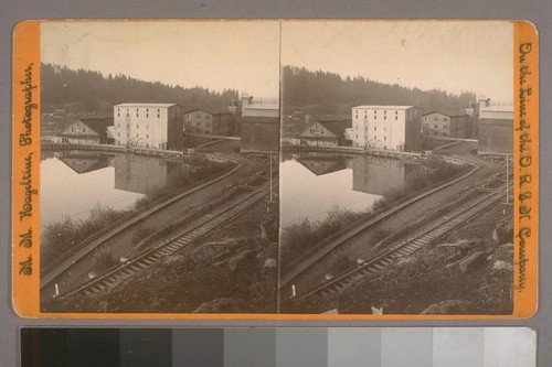 (Oregon City Woolen Mills, Or.; on verso.) Photographer's series: On the Line of the O. R. & N. Company