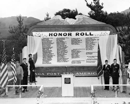 Honor Roll Ceremony, Memorial Day 1944
