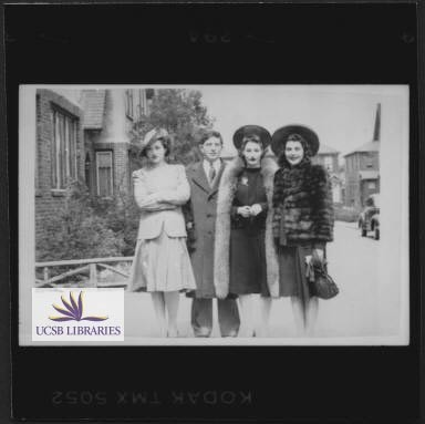 BH w/ Lucille Fletcher and sisters, ca. 1939
