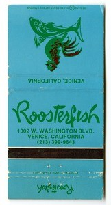Roosterfish matchbook