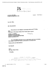 letter from waheb tabra to mike regarding an invitation letter