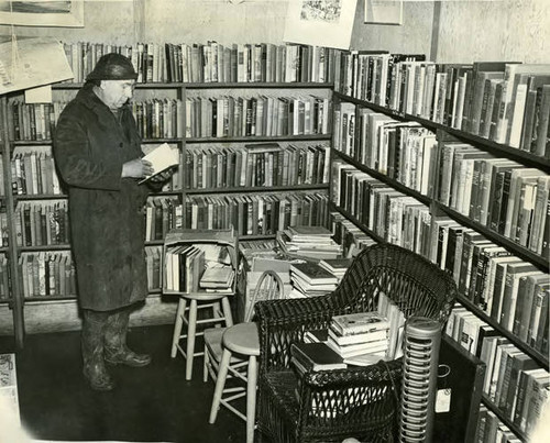 A.C. Pfefferkorn, the owner of the buliding which housed the Bolinas Branch of the Marin County Free Library, 1952 [photograph]