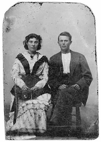 Young couple, 1880s