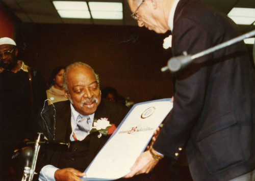 County of Los Angeles Supervisor Kenneth Hahn Honors Count Basie at African American Living Legends Program