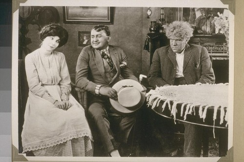 """Why, I ain't ever coming back."" Page 255. [Zasu Pitts, Jean Hersholt, Gibson Gowland.]"