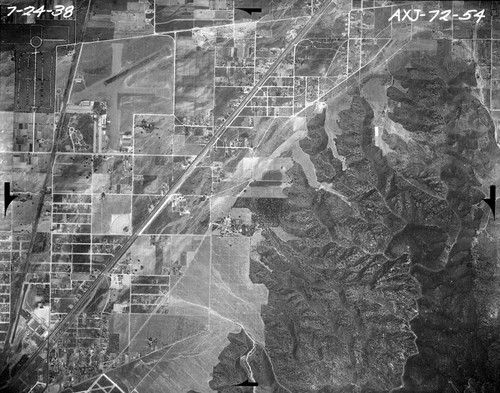 Aerial View of Burbank, 1938