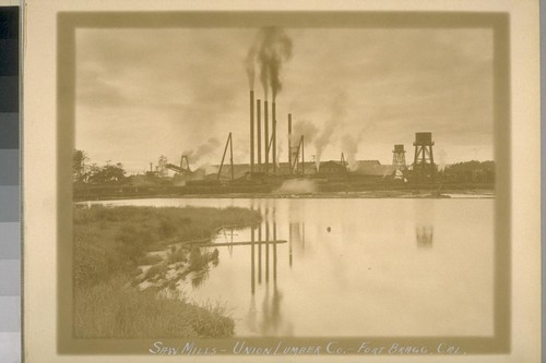 Saw Mills - Union Lumber Co. - Fort Bragg, Cal. [California]