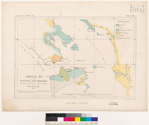 Calisphere Geological map of the vicinity of San Francisco Calif