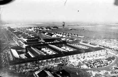 View of military camp
