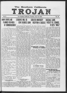 The Southern California Trojan, Vol. 10, No. 29, June 10, 1919