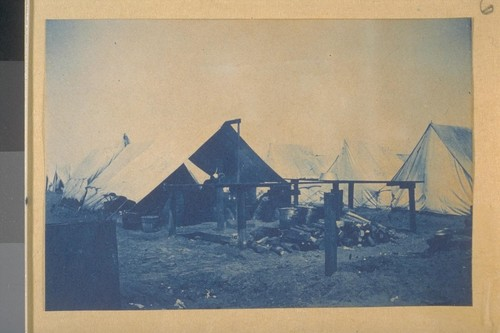 Cook Tent, 1st Montana Volunteers