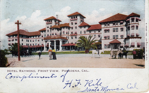 Image South Pasadena Postcard Hotel Raymond Front View