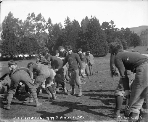 """U.C. football, 1899? Practise [negative]"