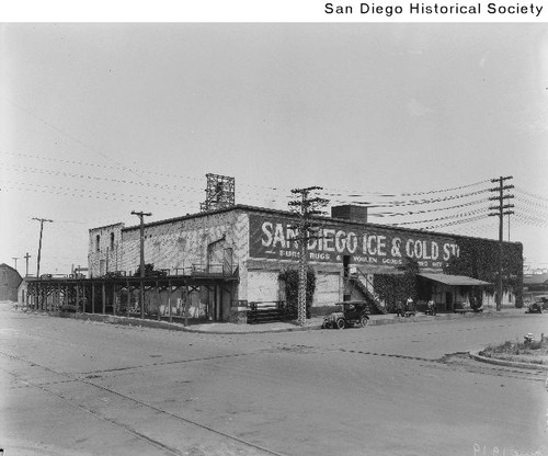 San Diego Ice and Cold Storage at the northwest corner of 9th and M Street & Calisphere: San Diego Ice and Cold Storage at the northwest corner ...