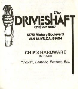 Advertisement for the Driveshaft