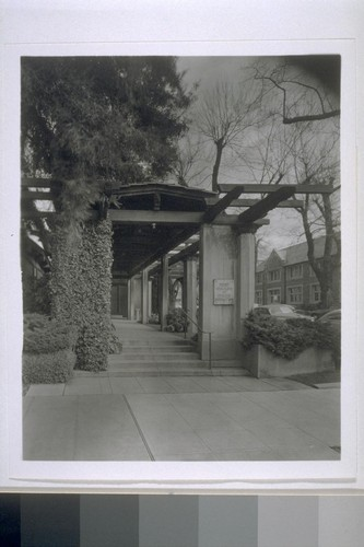 First Church of Christ, Scientist, Berkeley: [exterior, view of pergola]