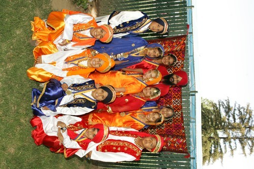 Young Co-ed Bhangra Team Group Photo