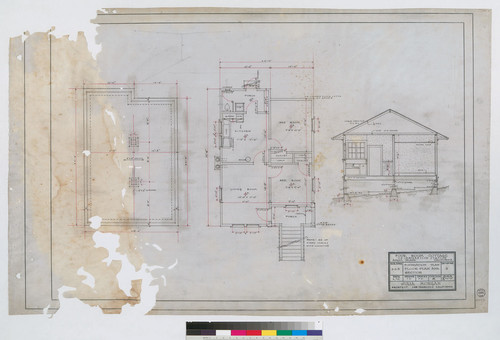 Four Room Cottage Foundation Plan and Section
