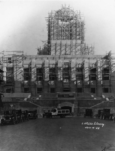 LAPL Central Library construction, view 75