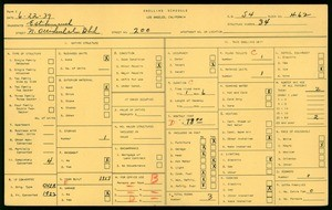 WPA household census for 200 N OCCIDENTAL BLVD, Los Angeles