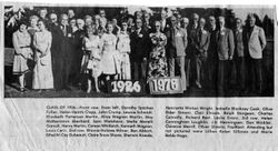 Analy High School Class of 1926 50th year reunion in July 1976