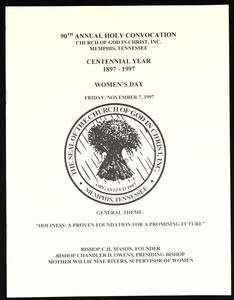Annual Holy Convocation of the Church of God in Christ (90th: 1997), Women's day program