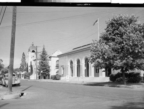 Post Office and Methodist Church, Oroville, Calif