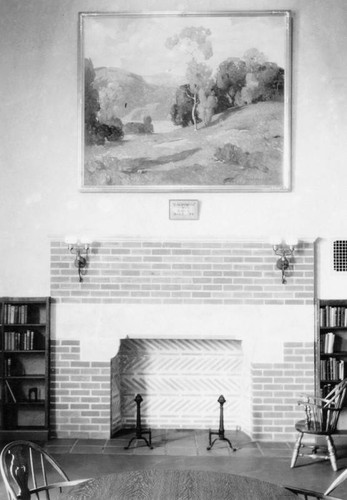 Fireplace, Felipe de Neve Branch Library