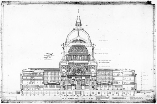 Calisphere longitudinal section san francisco city hall drawing longitudinal section san francisco city hall drawing no 19 malvernweather