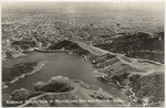 Aerial view of Mulholland and Dam and Hollywood, Cal., 121
