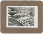 [Aerial view of Sacramento showing Southern Pacific Shops, Southern Pacific Depot, I Street Bridge]