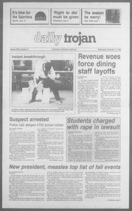 Daily Trojan, Vol. 113, No. 68, December 12, 1990