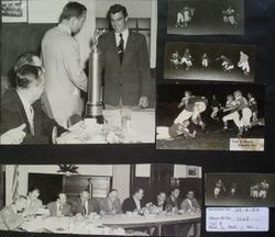 Analy High School football Awards dinner, 1952 and Analy vs. Tamalpais High