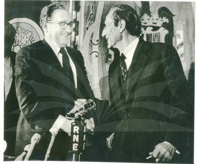 Kissinger Confers In Spain