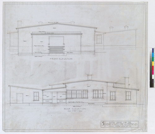 Front & Rear Elevations, Drawing # 5