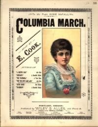 Columbia march / music by E. Cook