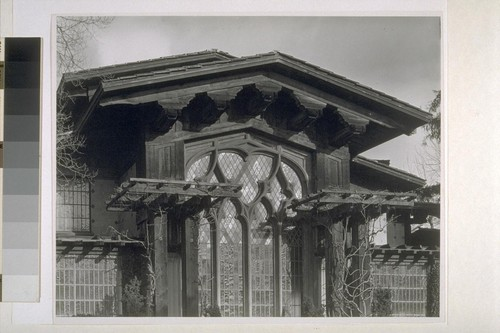 First Church of Christ, Scientist, Berkeley: [exterior, detail of window and trellises]