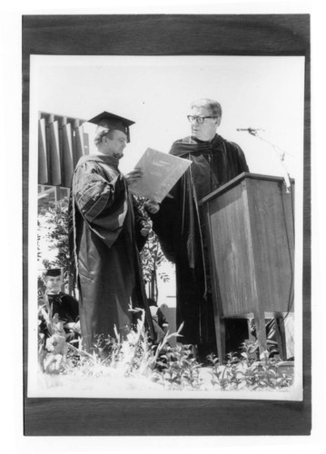 Grenier and Cain at Commencement