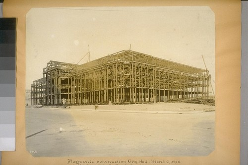 Progressive construction, City Hall. March 6, 1914. (Van Ness Ave. and Grove St. elevation.) 1756