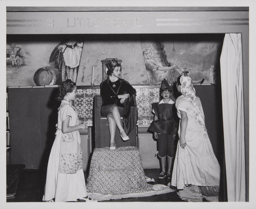Performance in the 'Little Theatre' in the Boys and Girls' Room