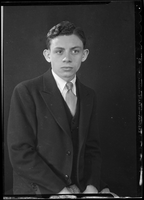 Portrait of a boy in a suit