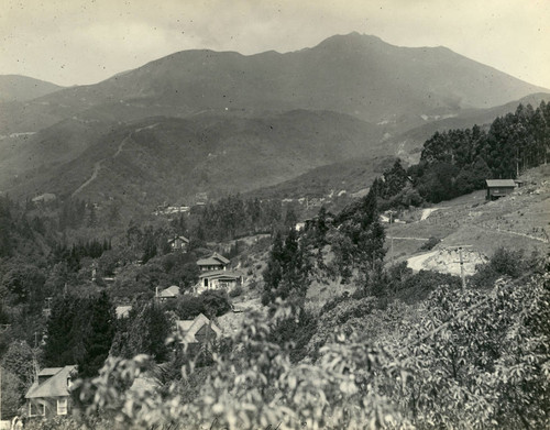 View of Mt. Tamalpais with Mill Valley in the foreground, Marin County, California, circa 1922 [photograph]