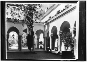 Exterior view of the athenaeum at the California Institute of Technology in Pasadena, ca.1930
